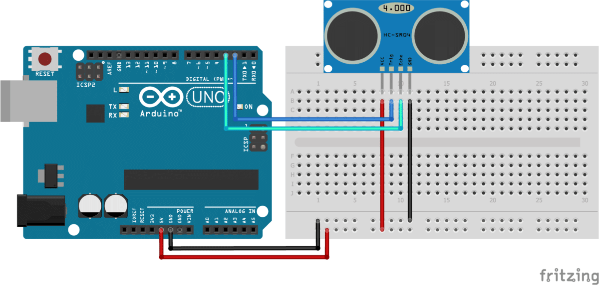 How to use HC-SR04 Ultrasonic Sensor with Arduino (5 examples)