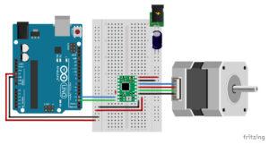 A4988 Arduino stepper motor wiring schematic diagram pinout