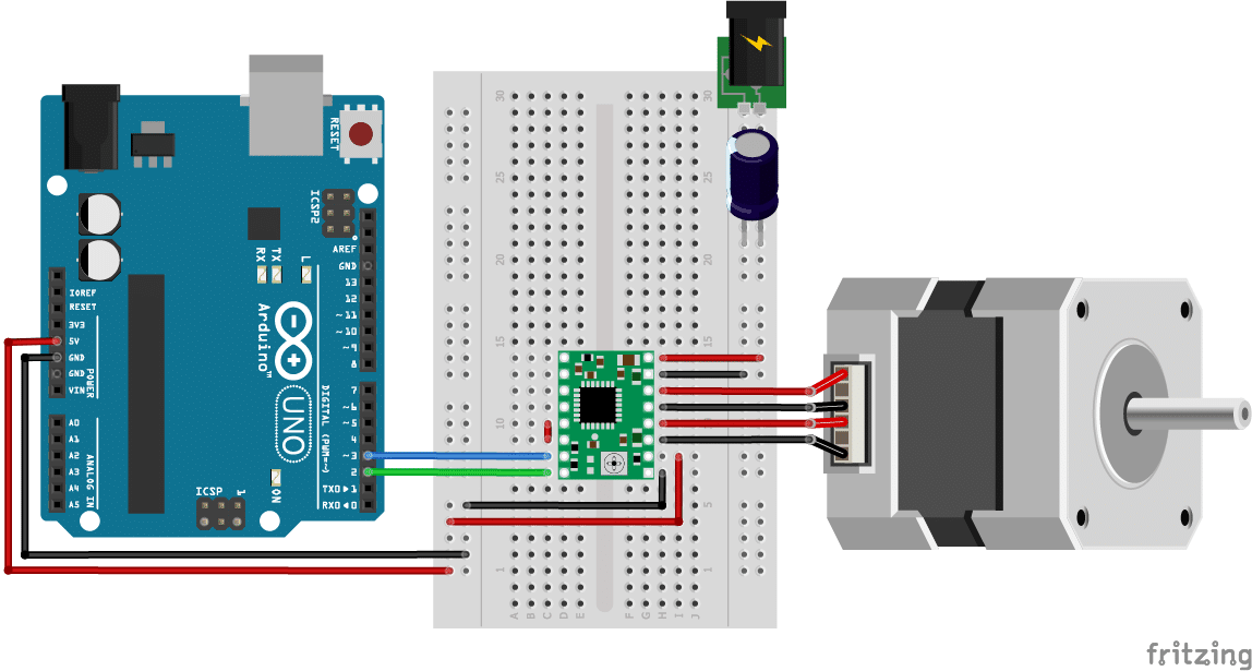 How to Control Stepper Motor with A4988 and Arduino (4 Examples)