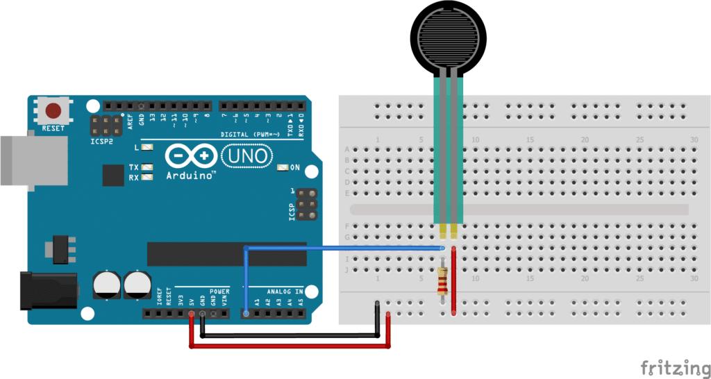 FSR with Arduino wiring diagram