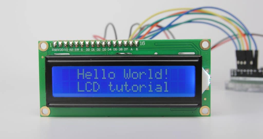 16x2 character lcd arduino tutorial example