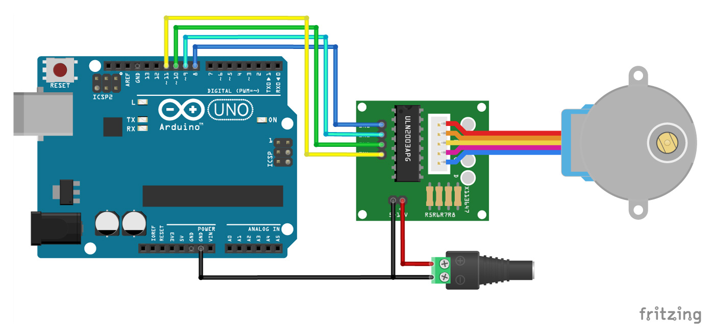 Arduino Uno Stepper Motor Wiring Diagram