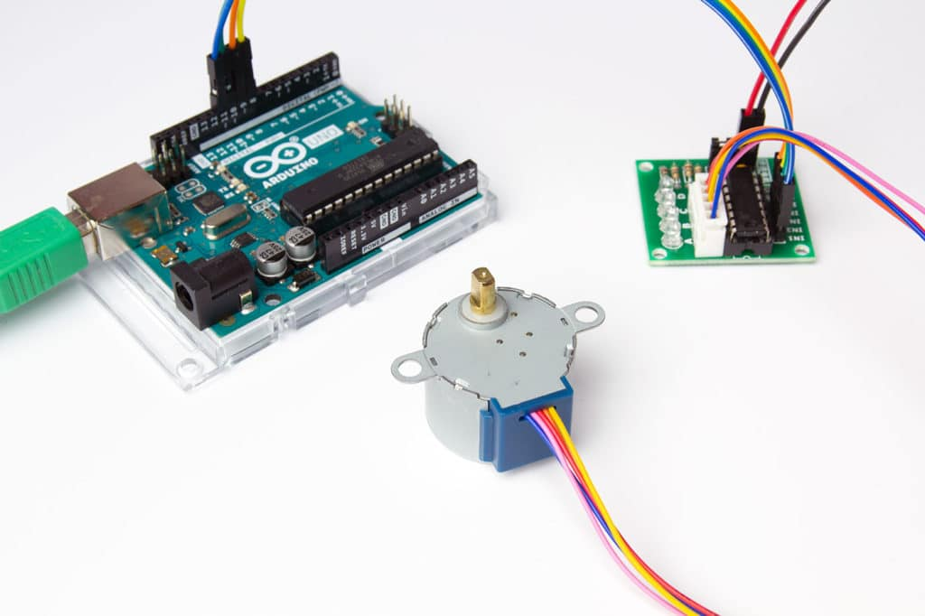 28byj-48 stepper motor with uln2003 driver and arduino tutorial
