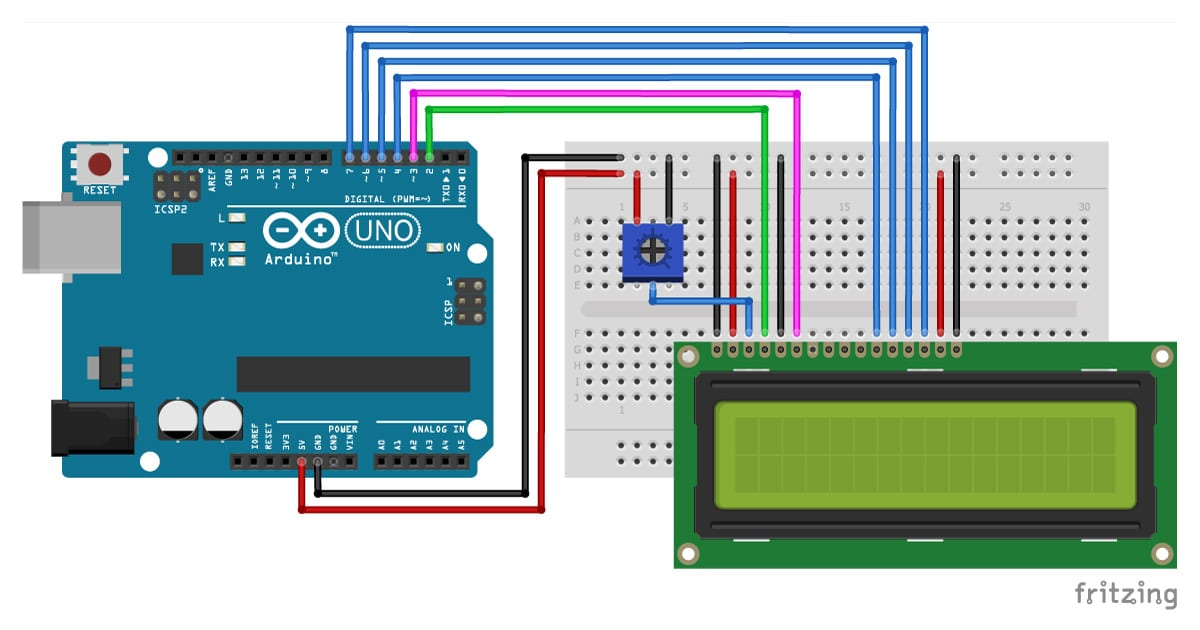 How To Control An Lcd Display With Arduino  8 Examples