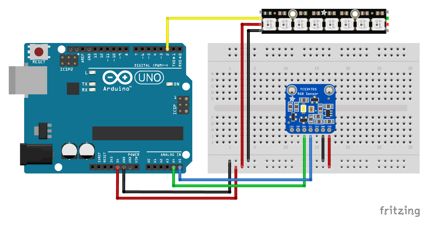 TCS34725-with-Arduino-and-Neopixel-Stick-wiring-diagram-schematic-pinout