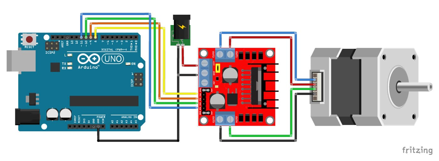 4 Wire Stepper Motor Wiring Diagram from www.makerguides.com