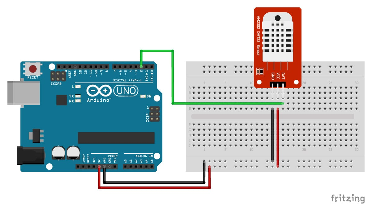 DHT11/DHT22 Sensors with Arduino Tutorial (2 Examples)