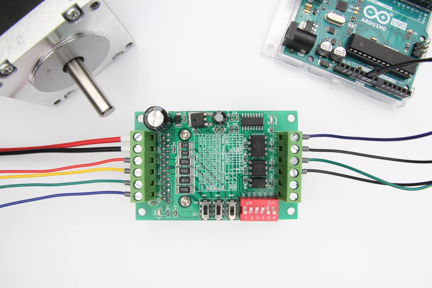 TB6560 Stepper Motor Driver with Arduino Tutorial (2 Examples) on