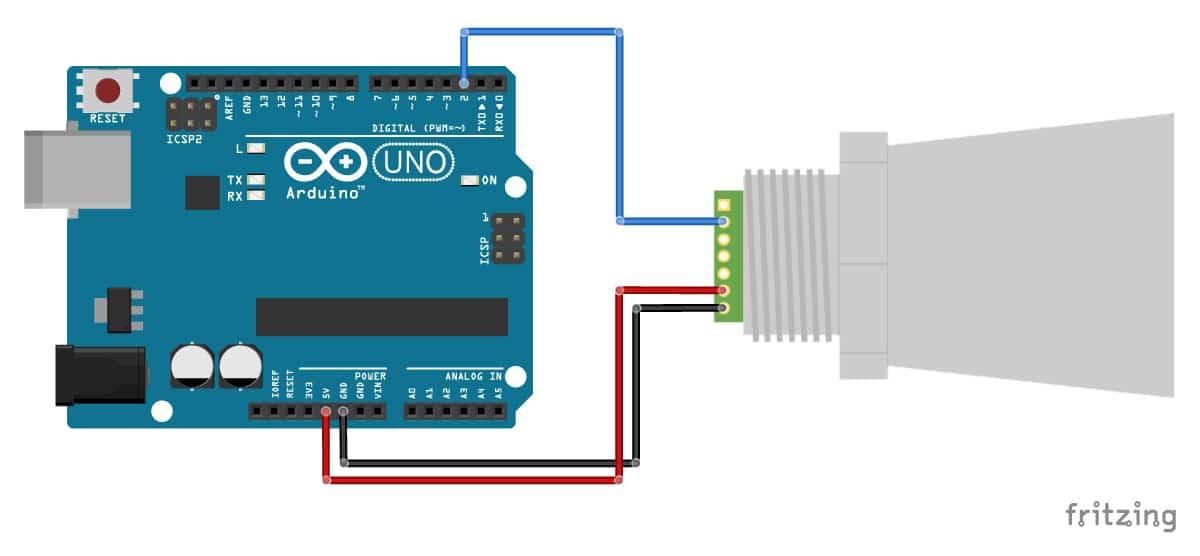 MaxBotix-MB7389-ultrasonic-distance-sensor-with-Arduino-UNO-pulse-width-wiring-diagram-schematic
