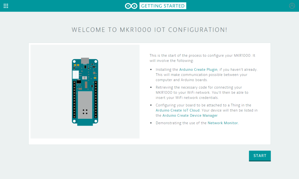 getting started mkr1000 iot configuration