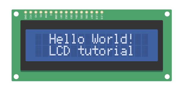 i2c lcd with arduino hello world
